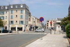 Francia, la ciudad pintoresca de Poissy Foto de archivo