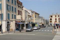 Francia, la ciudad pintoresca de Poissy Fotografía de archivo