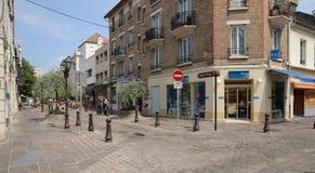 Francia, la ciudad pintoresca de Poissy Fotos de archivo