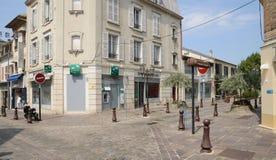 Francia, la ciudad pintoresca de Poissy Fotos de archivo libres de regalías