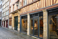 Francia, la ciudad pintoresca de Ruán en Normandie Foto de archivo libre de regalías