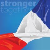 Francia más fuerte junto Imagen de archivo libre de regalías