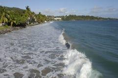 Francia, Martinica, playa Foto de archivo