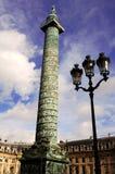Francia, París: Columna y lugar Vendome Imagen de archivo libre de regalías