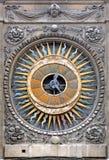 Francia, París: El reloj de la iglesia de San Pablo Foto de archivo