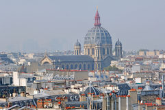 Francia, París: opinión agradable de la ciudad Imagen de archivo libre de regalías