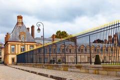 Francia. Parque y un palacio de Fontainebleau Fotos de archivo libres de regalías