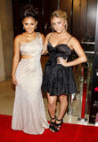 Francia Raisa and Cassie Scerbo Stock Images