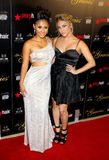Francia Raisa and Cassie Scerbo Royalty Free Stock Photo