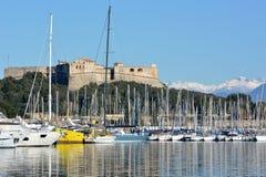 Francia, riviera francesa, Antibes, puerto de Vauban Imagen de archivo
