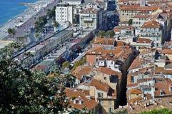 Francia, sobre las azoteas de Niza Fotos de archivo