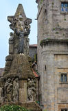 Francis of Assisi sculpture, Santiago de Compostela, Spain. Stock Photography