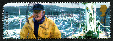 Francis Chichester UK portostämpel Royaltyfri Foto