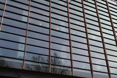 11/03/2018 Francis Crick Institute i London Härlig archicteture av en byggnad Arkivbild