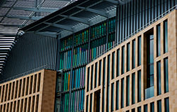 Francis Crick Institute, St Pancras London. The Francis Crick Institute  is a biomedical research centre in London, which opened in 2016.The institute is a Royalty Free Stock Image