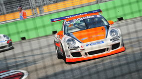 Francis Tjia racing at Porsche Carrera Cup Asia Stock Photography