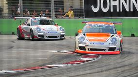 Francis Tjia racing at Porsche Carrera Cup Asia Royalty Free Stock Photos