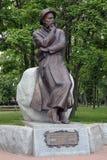 Francisak Bahusevic的纪念碑在Smorgon,白俄罗斯 免版税图库摄影