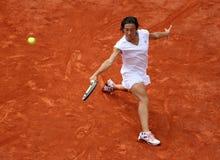 Francisca SCHIAVONE (AIE) en Roland Garros 2010 Imágenes de archivo libres de regalías
