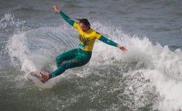 Francisca Sousa in Nazare Surf Pro 2010 Stock Photos