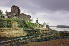 Franciscan abbotskloster och kyrkogård Donegal stad Ståndsmässiga Donegal ireland royaltyfri fotografi
