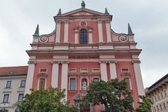 Franciscan Church of the Annunciation in Ljubljana Royalty Free Stock Photo