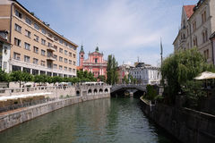 Franciscan Church of the Annunciation in Ljubljana, Slovenia Royalty Free Stock Images