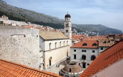 Franciscan Church and Big Onofrio fountain, Dubrovnik. Croatia Stock Photography