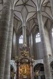 Franciscan Church interior in Salzburg, Austria royalty free stock images