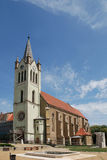 Franciscan Church in Keszthely. The Franciscan church in the Hungarian town of Keszthely at Lake Balaton Stock Image