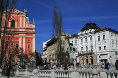 Franciscan church of Ljubljana Royalty Free Stock Photography