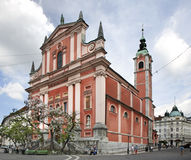 Franciscan Church in Ljubljana. Slovenija Royalty Free Stock Images