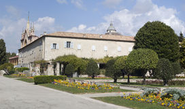Franciscan church and monastery of Cimiez. Nice France Stock Photos