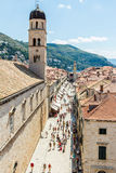 Franciscan Church and Monastery at Stradun Placa in Dubrovnik` Stock Photo
