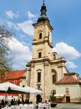 Franciscan Church in the Museum square in Cluj-Napoca royalty free stock photography