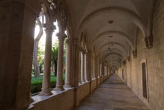 Franciscan cloister in Dubrovnik, Stock Photo