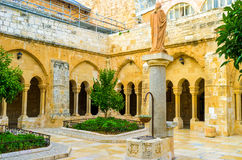 The Franciscan courtyard Stock Photography