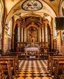 Franciscan domkyrka i Sanok, Polen arkivbild