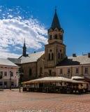 Franciscan domkyrka i Sanok, Polen royaltyfria foton