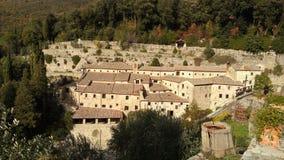 Franciscan eremitboning i Cortona, Italien royaltyfri fotografi