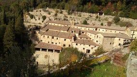 Franciscan eremitboning i Cortona, Italien arkivfoton