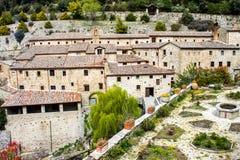Franciscan eremitboning i Cortona, Italien royaltyfria foton
