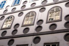 Franciscan fasad för klosterbyggnadsframdel i Wien Arkivbild
