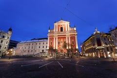 Franciscan Kerk en PreÅ ¡ eren Vierkant Royalty-vrije Stock Foto