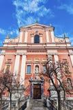 Franciscan Kerk in Ljubljana Stock Afbeelding