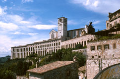 Franciscan kloster i Assisi arkivbilder