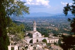 Franciscan kloster i Assisi royaltyfria foton