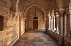 Franciscan kloster i Betlehem Palestinska territorierna israel royaltyfri bild