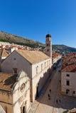 Franciscan kloster (1317) i Dubrovnik, Kroatien fotografering för bildbyråer