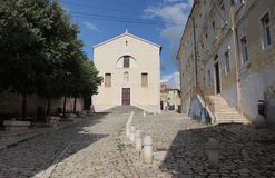 Franciscan kloster i Rovinj i Kroatien royaltyfri foto
